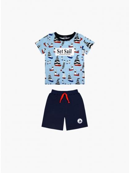 """Детская пижама для мальчиков """"Индефини"""" (Арт.981100-BTD0007)"""