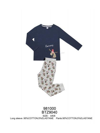 """Детская пижама для мальчиков """"Индефини"""" (Арт.981000-BTZ9040)"""