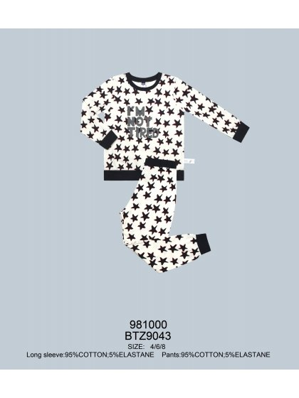 """Детская пижама для мальчиков """"Индефини"""" (Арт.981000-BTZ9043)"""